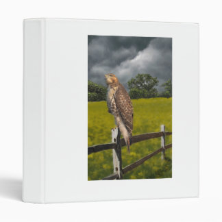 Waiting for the Storm - Red tail Hawk 3 Ring Binder
