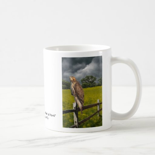 Waiting for the Storm - Red tail Hawk Classic White Coffee Mug