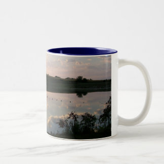 Waiting For The Teal To Get Here Two-Tone Coffee Mug