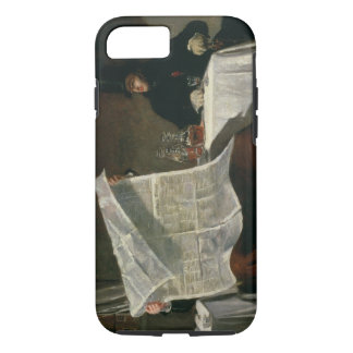 Waiting for the Times, 1831 (oil on canvas) iPhone 8/7 Case