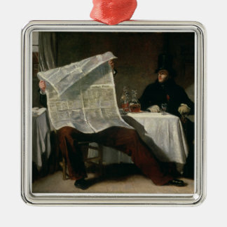 Waiting for the Times, 1831 (oil on canvas) Metal Ornament