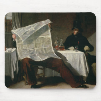 Waiting for the Times, 1831 (oil on canvas) Mouse Pad