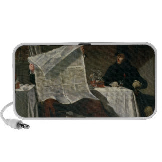 Waiting for the Times, 1831 (oil on canvas) Portable Speaker