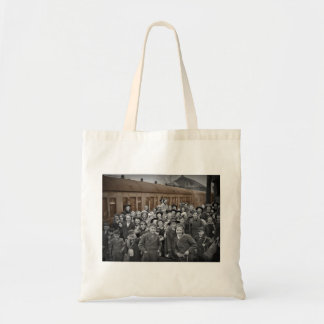 Waiting for the Train Tote Bags