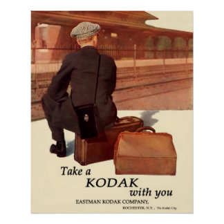 Waiting For The Train. Circa 1915. Poster