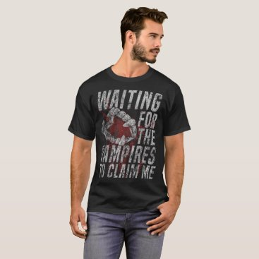 Beach Themed Waiting For The Vampires To Claim Me Distressed T-Shirt