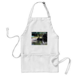 waiting for today's catch... adult apron