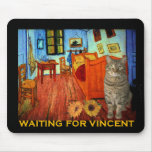 Waiting for Vincent Van Gogh Mouse Mats