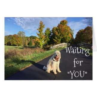 """WAITING FOR """"YOU"""" AND """"MISSING"""" YOU, TOO!THI CARD"""