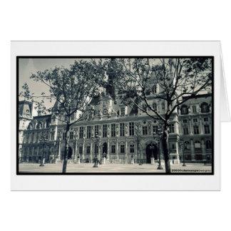 Waiting for you... at Hôtel de Ville Greeting Card