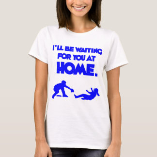 Waiting For You, blue T-Shirt
