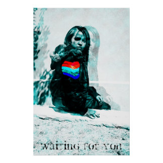 Waiting For You (Line Blurs Variant) Poster