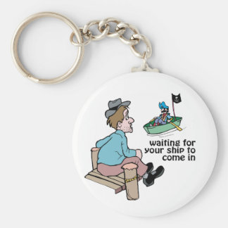 Waiting For Your Ship To Come In - Word Play Keychain