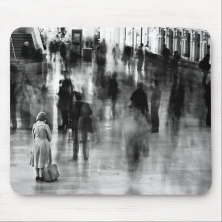 Waiting in Grand Central Station Mousepads
