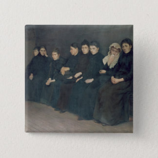 Waiting in the Clinic, 1888 Button