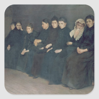 Waiting in the Clinic, 1888 Square Sticker