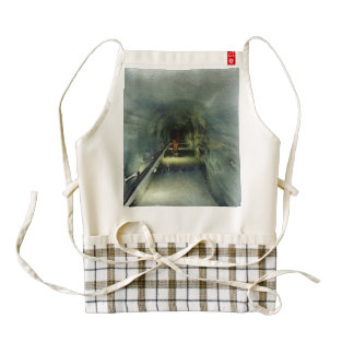 Waiting in the Ice Tunnel Zazzle HEART Apron