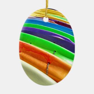 Waiting Kayaks Christmas Ornament