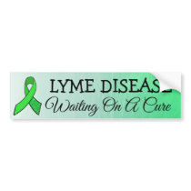 Waiting on a Cure, Lyme Disease Awareness Ribbon Bumper Sticker