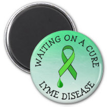 Waiting on a Cure, Lyme Disease Awareness Ribbon Magnet