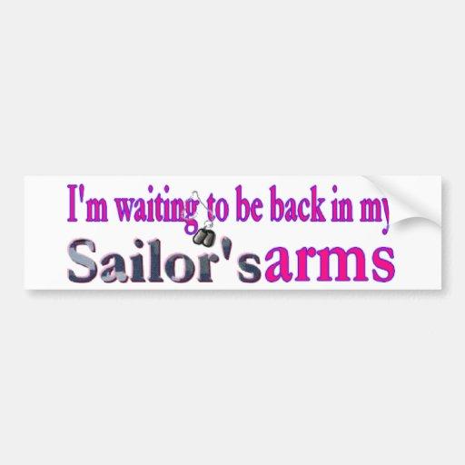 Waiting on a Sailor Bumper Sticker