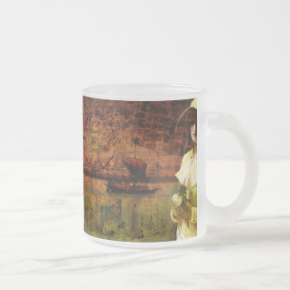 Waiting on Dry Land Frosted Glass Mug