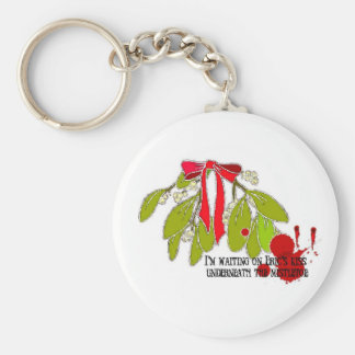 Waiting on Eric underneath the Mistletoe Keychain