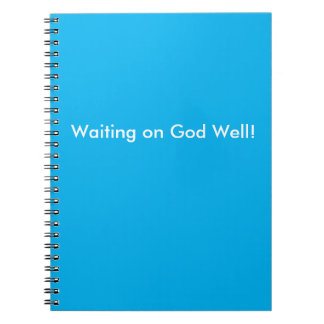 Waiting on God Well Blue and White Journal
