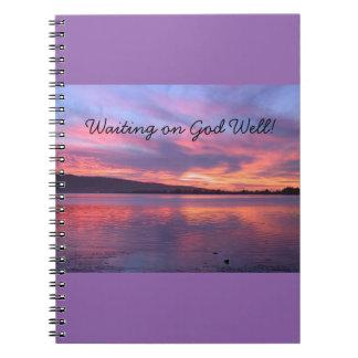 Waiting on God Well Journal - Sunset