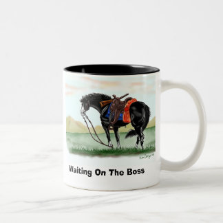 Waiting On The Boss- Mug