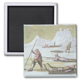 Waiting on the Ice detail from Seal Hunting colo Magnet