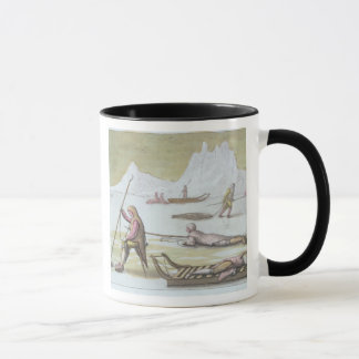 Waiting on the Ice, detail from Seal Hunting (colo Mug