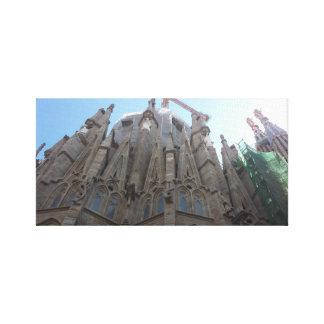 Waiting on the Sagrada Familia Canvas Print