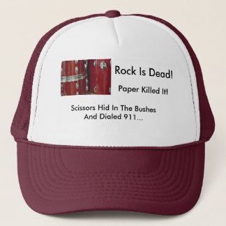 Waiting On The Sticks, Rock Is Dead!, Paper Kil... Trucker Hat