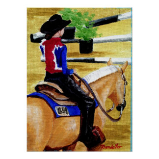 Waiting Our Turn Palomino Quarter Horse Portrait Posters