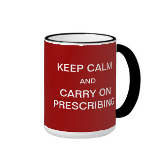 Waiting Room Full / Keep Calm Joke Medical Slogan Ringer Coffee Mug