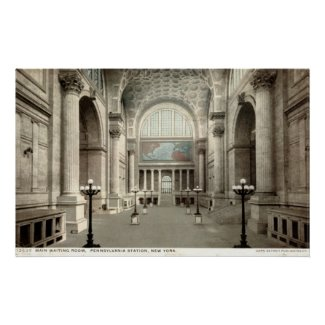 Waiting Room, Pennsylvania Station NY 1913 Vintage print