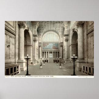 Waiting Room, Pennsylvania Station NY 1913 Vintage Poster
