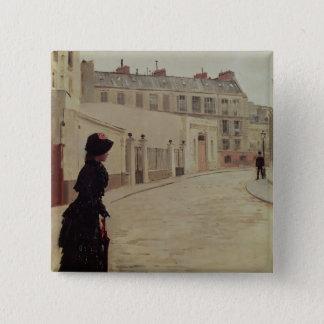 Waiting, Rue de Chateaubriand, Paris Pinback Button