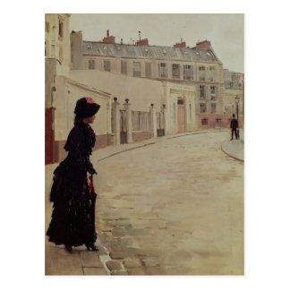 Waiting, Rue de Chateaubriand, Paris Postcard