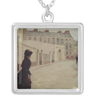 Waiting, Rue de Chateaubriand, Paris Silver Plated Necklace