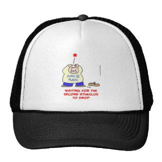 waiting second stimulus drop trucker hat