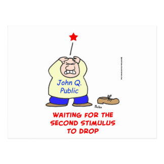waiting second stimulus drop postcard