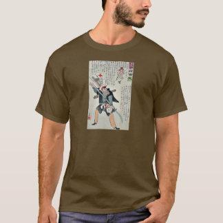 Waiting the Japanese by Kobayashi,Kiyochika T-Shirt
