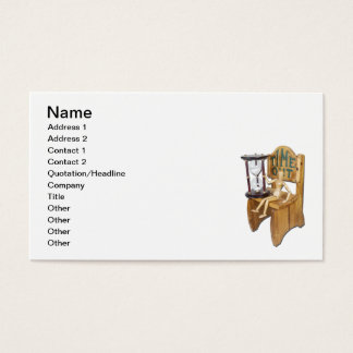 Waiting Time Out Chair Hour Glass Business Card