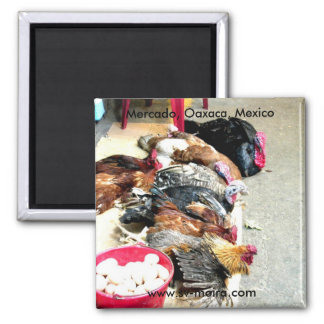 Waiting to be invited to dinner Mercado, Oaxaca 2 Inch Square Magnet