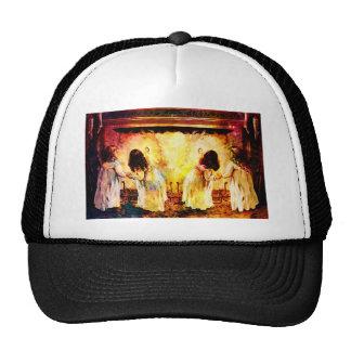 WAITING UP FOR SANTA jpg Mesh Hats