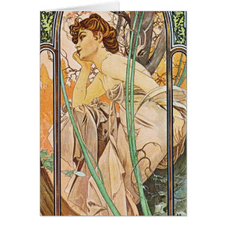 Waiting Woman Stationery Note Card