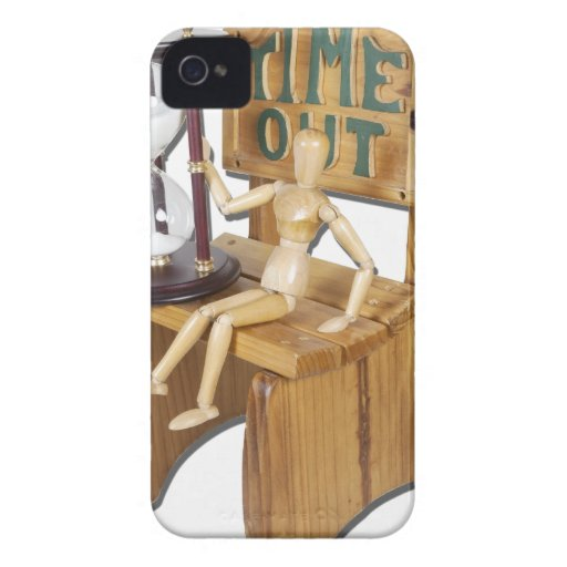 WaitingOutTimeOutChair090312.png iPhone 4 Case-Mate Protectores