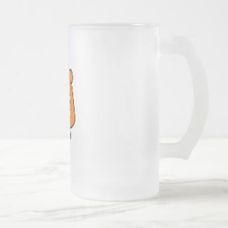 Waitress 2 frosted glass beer mug